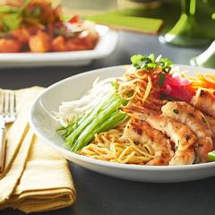 Grilled Prawns with Chilled Peanut Noodle Salad