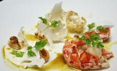 Butter Poached Maine Lobster with Cauliflower