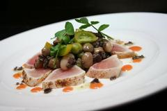 Tataki of Albacore Tuna with Summer Bean Salad