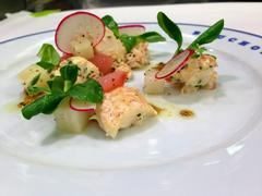 Lobster salad with black truffle vinaigrette