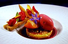 Mayfair's Peach Melba Dessert