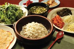 Boribap - Rice and Barley with Vegetables