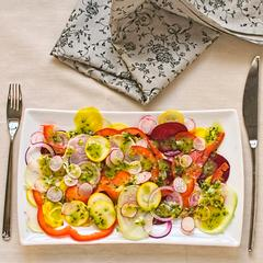 carpaccio of summer vegetables