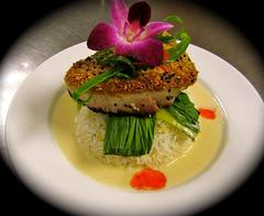 Sesame Seared Bluefin Tuna with lemon scented jasmine rice