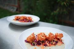 Asian Shrimp Tacos with Spicy Lime Slaw