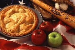 Apple pie, along with baseball, is one of a number of American cultural icons.