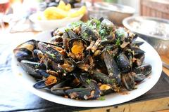 mussels with curry sauce, a typical plate of Brittany cuisine